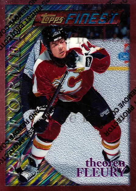 1995-96 Finest #181 Theo Fleury<br/>7 In Stock - $1.00 each - <a href=https://centericecollectibles.foxycart.com/cart?name=1995-96%20Finest%20%23181%20Theo%20Fleury...&quantity_max=7&price=$1.00&code=39686 class=foxycart> Buy it now! </a>