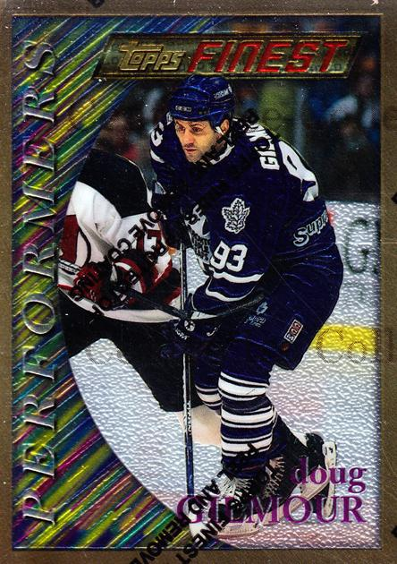 1995-96 Finest #55 Doug Gilmour<br/>1 In Stock - $10.00 each - <a href=https://centericecollectibles.foxycart.com/cart?name=1995-96%20Finest%20%2355%20Doug%20Gilmour...&quantity_max=1&price=$10.00&code=39731 class=foxycart> Buy it now! </a>