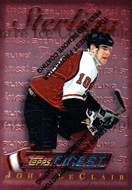 1995-96 Finest #60 John LeClair<br/>7 In Stock - $1.00 each - <a href=https://centericecollectibles.foxycart.com/cart?name=1995-96%20Finest%20%2360%20John%20LeClair...&quantity_max=7&price=$1.00&code=39737 class=foxycart> Buy it now! </a>