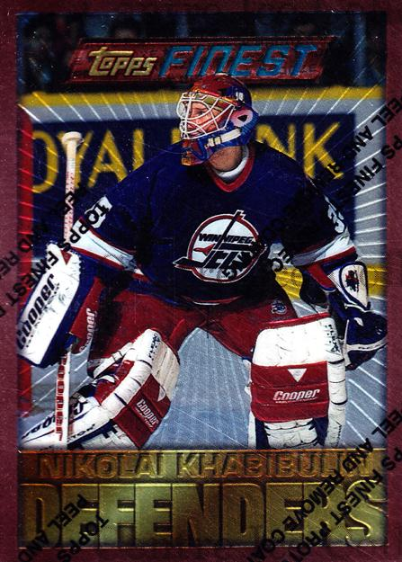 1995-96 Finest #63 Nikolai Khabibulin<br/>7 In Stock - $1.00 each - <a href=https://centericecollectibles.foxycart.com/cart?name=1995-96%20Finest%20%2363%20Nikolai%20Khabibu...&quantity_max=7&price=$1.00&code=39740 class=foxycart> Buy it now! </a>
