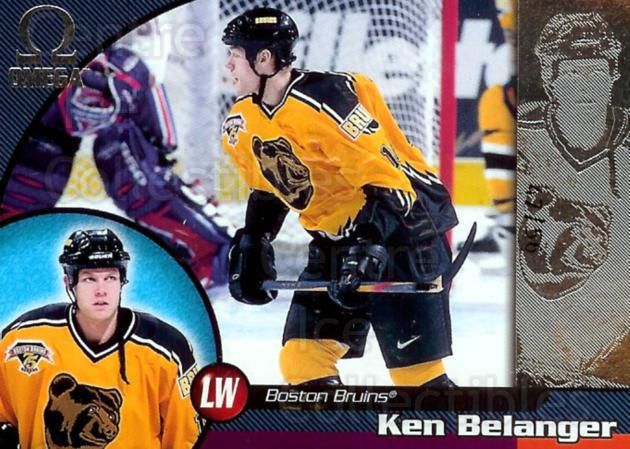 1998-99 Omega Opening Day Issue #11 Ken Belanger<br/>1 In Stock - $5.00 each - <a href=https://centericecollectibles.foxycart.com/cart?name=1998-99%20Omega%20Opening%20Day%20Issue%20%2311%20Ken%20Belanger...&quantity_max=1&price=$5.00&code=397696 class=foxycart> Buy it now! </a>