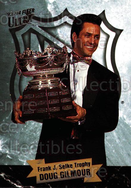 1993-94 Ultra Award Winners #3 Doug Gilmour, Selke Trophy<br/>2 In Stock - $3.00 each - <a href=https://centericecollectibles.foxycart.com/cart?name=1993-94%20Ultra%20Award%20Winners%20%233%20Doug%20Gilmour,%20S...&quantity_max=2&price=$3.00&code=3978 class=foxycart> Buy it now! </a>