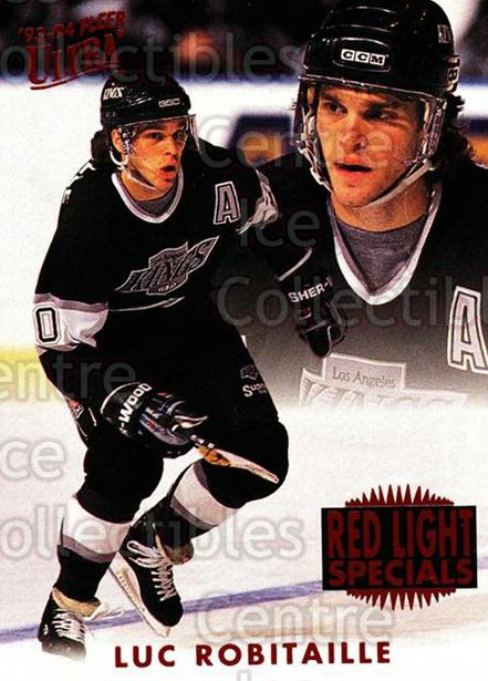 1993-94 Ultra Red Light Specials #9 Luc Robitaille<br/>17 In Stock - $2.00 each - <a href=https://centericecollectibles.foxycart.com/cart?name=1993-94%20Ultra%20Red%20Light%20Specials%20%239%20Luc%20Robitaille...&quantity_max=17&price=$2.00&code=3999 class=foxycart> Buy it now! </a>
