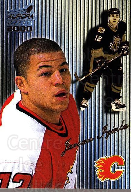 1999-00 Aurora Striped #23 Jarome Iginla<br/>2 In Stock - $2.00 each - <a href=https://centericecollectibles.foxycart.com/cart?name=1999-00%20Aurora%20Striped%20%2323%20Jarome%20Iginla...&quantity_max=2&price=$2.00&code=400325 class=foxycart> Buy it now! </a>