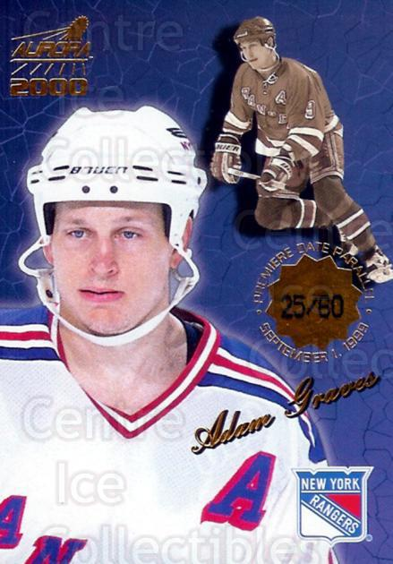 1999-00 Aurora Premiere Date #93 Adam Graves<br/>1 In Stock - $5.00 each - <a href=https://centericecollectibles.foxycart.com/cart?name=1999-00%20Aurora%20Premiere%20Date%20%2393%20Adam%20Graves...&quantity_max=1&price=$5.00&code=400478 class=foxycart> Buy it now! </a>