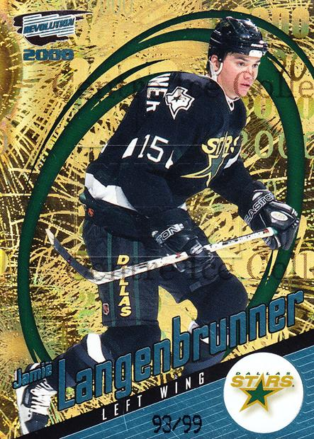 1999-00 Revolution Shadow Series #46 Jamie Langenbrunner<br/>4 In Stock - $5.00 each - <a href=https://centericecollectibles.foxycart.com/cart?name=1999-00%20Revolution%20Shadow%20Series%20%2346%20Jamie%20Langenbru...&quantity_max=4&price=$5.00&code=400655 class=foxycart> Buy it now! </a>