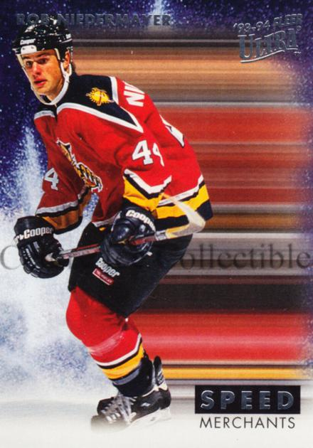 1993-94 Ultra Speed Merchants #8 Rob Niedermayer<br/>8 In Stock - $5.00 each - <a href=https://centericecollectibles.foxycart.com/cart?name=1993-94%20Ultra%20Speed%20Merchants%20%238%20Rob%20Niedermayer...&quantity_max=8&price=$5.00&code=4006 class=foxycart> Buy it now! </a>