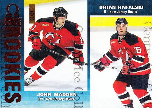 1999-00 Omega Copper #139 John Madden, Brian Rafalski<br/>1 In Stock - $5.00 each - <a href=https://centericecollectibles.foxycart.com/cart?name=1999-00%20Omega%20Copper%20%23139%20John%20Madden,%20Br...&quantity_max=1&price=$5.00&code=401003 class=foxycart> Buy it now! </a>