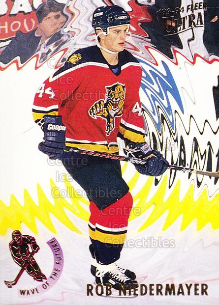 1993-94 Ultra Wave of the Future #11 Rob Niedermayer<br/>14 In Stock - $2.00 each - <a href=https://centericecollectibles.foxycart.com/cart?name=1993-94%20Ultra%20Wave%20of%20the%20Future%20%2311%20Rob%20Niedermayer...&quantity_max=14&price=$2.00&code=4010 class=foxycart> Buy it now! </a>