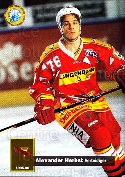 1995-96 German DEL #179 Alexander Herbst<br/>14 In Stock - $2.00 each - <a href=https://centericecollectibles.foxycart.com/cart?name=1995-96%20German%20DEL%20%23179%20Alexander%20Herbs...&quantity_max=14&price=$2.00&code=40114 class=foxycart> Buy it now! </a>