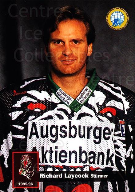 1995-96 German DEL #18 Rick Laycock<br/>10 In Stock - $2.00 each - <a href=https://centericecollectibles.foxycart.com/cart?name=1995-96%20German%20DEL%20%2318%20Rick%20Laycock...&quantity_max=10&price=$2.00&code=40115 class=foxycart> Buy it now! </a>