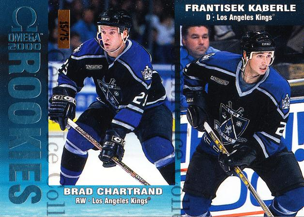 1999-00 Omega Ice Blue #115 Brad Chartrand, Frantisek Kaberle<br/>1 In Stock - $5.00 each - <a href=https://centericecollectibles.foxycart.com/cart?name=1999-00%20Omega%20Ice%20Blue%20%23115%20Brad%20Chartrand,...&quantity_max=1&price=$5.00&code=401178 class=foxycart> Buy it now! </a>