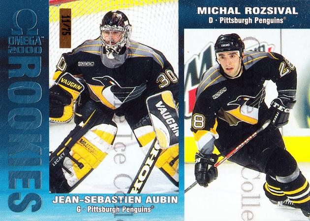 1999-00 Omega Ice Blue #194 Jean-Sebastien Aubin, Michal Rozsival<br/>1 In Stock - $5.00 each - <a href=https://centericecollectibles.foxycart.com/cart?name=1999-00%20Omega%20Ice%20Blue%20%23194%20Jean-Sebastien%20...&quantity_max=1&price=$5.00&code=401314 class=foxycart> Buy it now! </a>