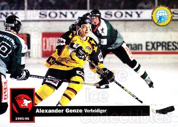 1995-96 German DEL #197 Alexander Genze<br/>13 In Stock - $2.00 each - <a href=https://centericecollectibles.foxycart.com/cart?name=1995-96%20German%20DEL%20%23197%20Alexander%20Genze...&quantity_max=13&price=$2.00&code=40134 class=foxycart> Buy it now! </a>