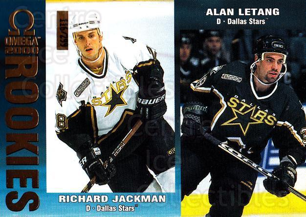1999-00 Omega Gold #79 Richard Jackman, Alan Letang<br/>1 In Stock - $3.00 each - <a href=https://centericecollectibles.foxycart.com/cart?name=1999-00%20Omega%20Gold%20%2379%20Richard%20Jackman...&quantity_max=1&price=$3.00&code=401398 class=foxycart> Buy it now! </a>