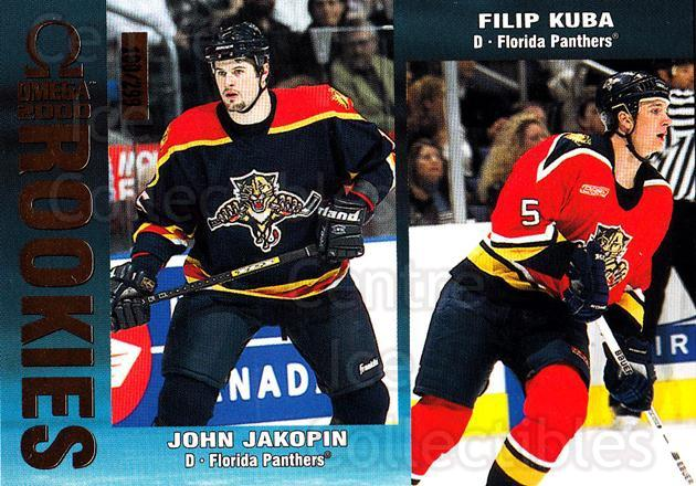 1999-00 Omega Gold #105 John Jakopin, Filip Kuba<br/>2 In Stock - $3.00 each - <a href=https://centericecollectibles.foxycart.com/cart?name=1999-00%20Omega%20Gold%20%23105%20John%20Jakopin,%20F...&quantity_max=2&price=$3.00&code=401417 class=foxycart> Buy it now! </a>