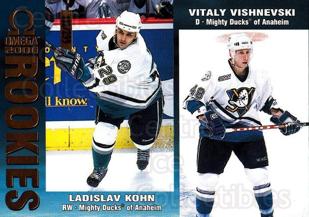 1999-00 Omega Gold #8 Ladislav Kohn, Vitali Vishnevsky<br/>1 In Stock - $3.00 each - <a href=https://centericecollectibles.foxycart.com/cart?name=1999-00%20Omega%20Gold%20%238%20Ladislav%20Kohn,%20...&quantity_max=1&price=$3.00&code=401470 class=foxycart> Buy it now! </a>