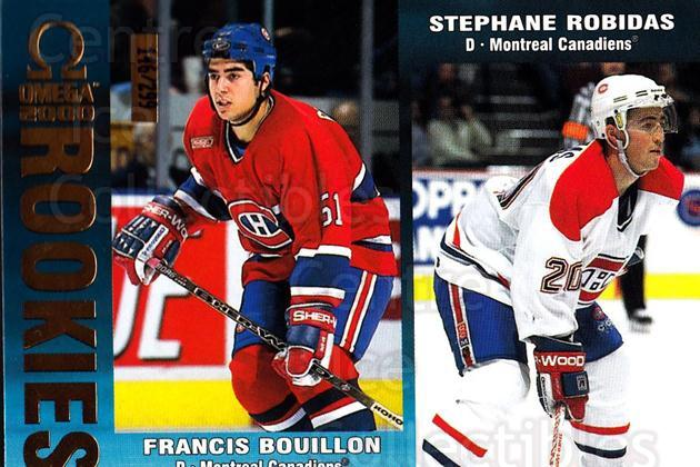 1999-00 Omega Gold #124 Francis Bouillon, Stephane Robidas<br/>1 In Stock - $3.00 each - <a href=https://centericecollectibles.foxycart.com/cart?name=1999-00%20Omega%20Gold%20%23124%20Francis%20Bouillo...&quantity_max=1&price=$3.00&code=401487 class=foxycart> Buy it now! </a>