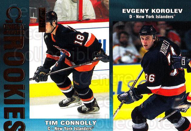 1999-00 Omega Gold #146 Tim Connolly, Evgeni Korolev<br/>1 In Stock - $3.00 each - <a href=https://centericecollectibles.foxycart.com/cart?name=1999-00%20Omega%20Gold%20%23146%20Tim%20Connolly,%20E...&quantity_max=1&price=$3.00&code=401511 class=foxycart> Buy it now! </a>