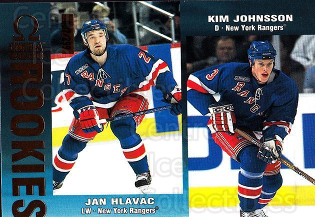 1999-00 Omega Gold #155 Jan Hlavac, Kim Johnsson<br/>2 In Stock - $3.00 each - <a href=https://centericecollectibles.foxycart.com/cart?name=1999-00%20Omega%20Gold%20%23155%20Jan%20Hlavac,%20Kim...&quantity_max=2&price=$3.00&code=401521 class=foxycart> Buy it now! </a>