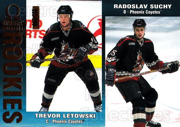 1999-00 Omega Gold #186 Trevor Letowski, Radoslav Suchy<br/>1 In Stock - $3.00 each - <a href=https://centericecollectibles.foxycart.com/cart?name=1999-00%20Omega%20Gold%20%23186%20Trevor%20Letowski...&quantity_max=1&price=$3.00&code=401555 class=foxycart> Buy it now! </a>