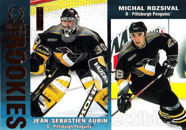 1999-00 Omega Gold #194 Jean-Sebastien Aubin, Michal Rozsival<br/>3 In Stock - $3.00 each - <a href=https://centericecollectibles.foxycart.com/cart?name=1999-00%20Omega%20Gold%20%23194%20Jean-Sebastien%20...&quantity_max=3&price=$3.00&code=401564 class=foxycart> Buy it now! </a>