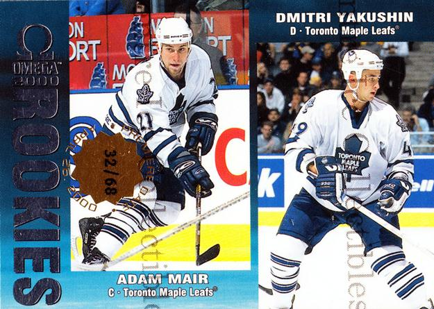 1999-00 Omega Premiere Date #230 Adam Mair, Dmitri Yakushin<br/>1 In Stock - $5.00 each - <a href=https://centericecollectibles.foxycart.com/cart?name=1999-00%20Omega%20Premiere%20Date%20%23230%20Adam%20Mair,%20Dmit...&quantity_max=1&price=$5.00&code=401854 class=foxycart> Buy it now! </a>
