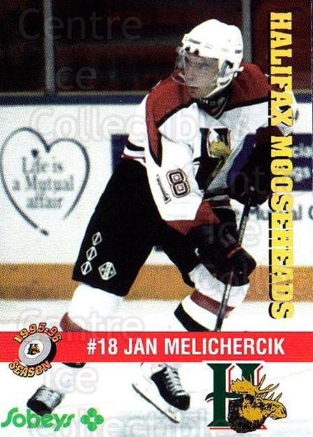1995-96 Halifax Mooseheads #20 Jan Melichercik<br/>5 In Stock - $3.00 each - <a href=https://centericecollectibles.foxycart.com/cart?name=1995-96%20Halifax%20Mooseheads%20%2320%20Jan%20Melichercik...&quantity_max=5&price=$3.00&code=40191 class=foxycart> Buy it now! </a>
