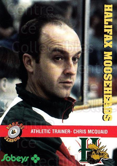 1995-96 Halifax Mooseheads #25 Chris McQuaid<br/>5 In Stock - $3.00 each - <a href=https://centericecollectibles.foxycart.com/cart?name=1995-96%20Halifax%20Mooseheads%20%2325%20Chris%20McQuaid...&quantity_max=5&price=$3.00&code=40195 class=foxycart> Buy it now! </a>