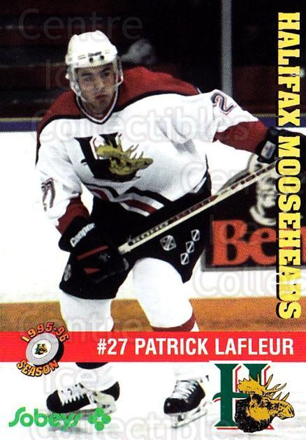 1995-96 Halifax Mooseheads #3 Patrick Lafleur<br/>3 In Stock - $3.00 each - <a href=https://centericecollectibles.foxycart.com/cart?name=1995-96%20Halifax%20Mooseheads%20%233%20Patrick%20Lafleur...&quantity_max=3&price=$3.00&code=40196 class=foxycart> Buy it now! </a>