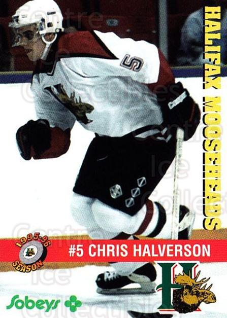 1995-96 Halifax Mooseheads #7 Chris Halverson<br/>3 In Stock - $3.00 each - <a href=https://centericecollectibles.foxycart.com/cart?name=1995-96%20Halifax%20Mooseheads%20%237%20Chris%20Halverson...&quantity_max=3&price=$3.00&code=40200 class=foxycart> Buy it now! </a>