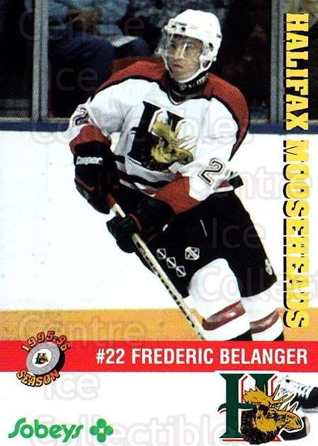 1995-96 Halifax Mooseheads #9 Frederic Belanger<br/>4 In Stock - $3.00 each - <a href=https://centericecollectibles.foxycart.com/cart?name=1995-96%20Halifax%20Mooseheads%20%239%20Frederic%20Belang...&quantity_max=4&price=$3.00&code=40202 class=foxycart> Buy it now! </a>