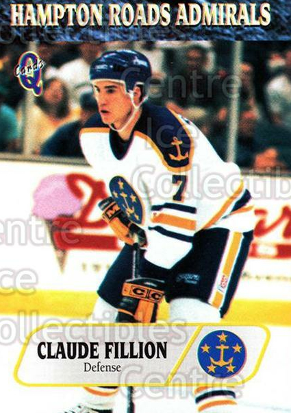 1995-96 Hampton Roads Admirals #11 Claude Fillion<br/>8 In Stock - $3.00 each - <a href=https://centericecollectibles.foxycart.com/cart?name=1995-96%20Hampton%20Roads%20Admirals%20%2311%20Claude%20Fillion...&quantity_max=8&price=$3.00&code=40205 class=foxycart> Buy it now! </a>