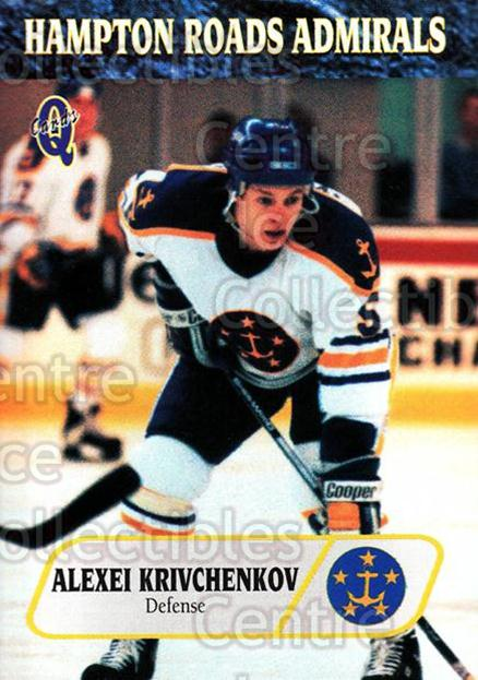 1995-96 Hampton Roads Admirals #13 Alexei Krivchenkov<br/>6 In Stock - $3.00 each - <a href=https://centericecollectibles.foxycart.com/cart?name=1995-96%20Hampton%20Roads%20Admirals%20%2313%20Alexei%20Krivchen...&quantity_max=6&price=$3.00&code=40207 class=foxycart> Buy it now! </a>