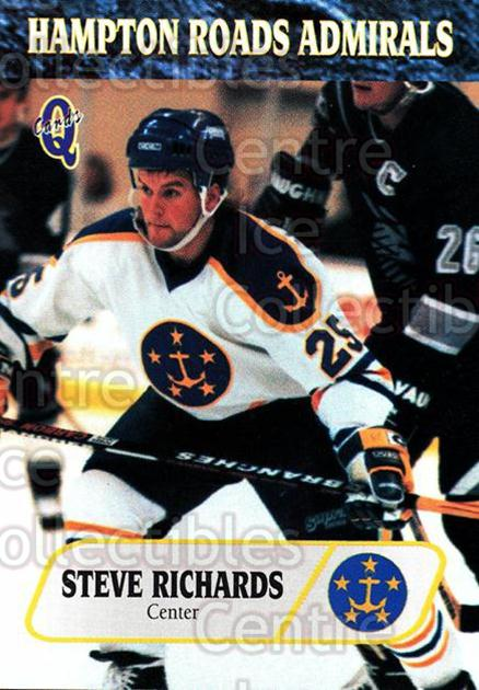 1995-96 Hampton Roads Admirals #15 Steve Richards<br/>7 In Stock - $3.00 each - <a href=https://centericecollectibles.foxycart.com/cart?name=1995-96%20Hampton%20Roads%20Admirals%20%2315%20Steve%20Richards...&quantity_max=7&price=$3.00&code=40209 class=foxycart> Buy it now! </a>
