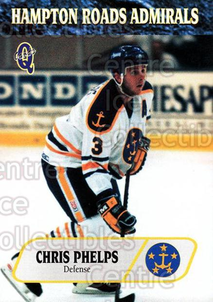 1995-96 Hampton Roads Admirals #17 Chris Phelps<br/>8 In Stock - $3.00 each - <a href=https://centericecollectibles.foxycart.com/cart?name=1995-96%20Hampton%20Roads%20Admirals%20%2317%20Chris%20Phelps...&quantity_max=8&price=$3.00&code=40211 class=foxycart> Buy it now! </a>