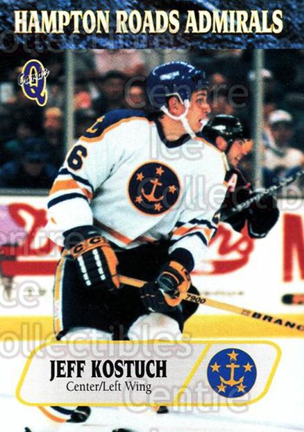 1995-96 Hampton Roads Admirals #18 Jeff Kostuch<br/>7 In Stock - $3.00 each - <a href=https://centericecollectibles.foxycart.com/cart?name=1995-96%20Hampton%20Roads%20Admirals%20%2318%20Jeff%20Kostuch...&quantity_max=7&price=$3.00&code=40212 class=foxycart> Buy it now! </a>