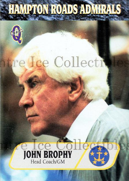 1995-96 Hampton Roads Admirals #2 John Brophy<br/>5 In Stock - $3.00 each - <a href=https://centericecollectibles.foxycart.com/cart?name=1995-96%20Hampton%20Roads%20Admirals%20%232%20John%20Brophy...&quantity_max=5&price=$3.00&code=40214 class=foxycart> Buy it now! </a>