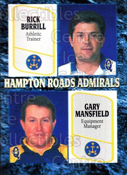 1995-96 Hampton Roads Admirals #24 Rick Burrell, Gary Mansfield<br/>8 In Stock - $3.00 each - <a href=https://centericecollectibles.foxycart.com/cart?name=1995-96%20Hampton%20Roads%20Admirals%20%2324%20Rick%20Burrell,%20G...&quantity_max=8&price=$3.00&code=40217 class=foxycart> Buy it now! </a>