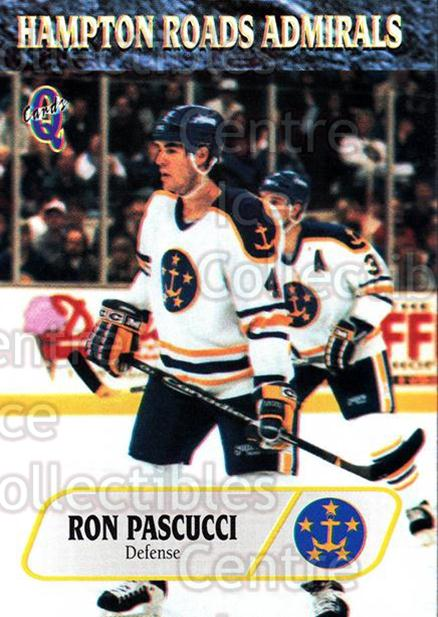 1995-96 Hampton Roads Admirals #6 Ron Pascucci<br/>7 In Stock - $3.00 each - <a href=https://centericecollectibles.foxycart.com/cart?name=1995-96%20Hampton%20Roads%20Admirals%20%236%20Ron%20Pascucci...&quantity_max=7&price=$3.00&code=40222 class=foxycart> Buy it now! </a>