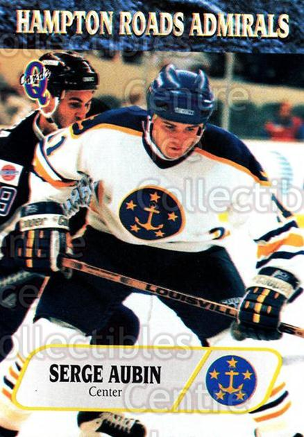 1995-96 Hampton Roads Admirals #9 Serge Aubin<br/>3 In Stock - $3.00 each - <a href=https://centericecollectibles.foxycart.com/cart?name=1995-96%20Hampton%20Roads%20Admirals%20%239%20Serge%20Aubin...&quantity_max=3&price=$3.00&code=40225 class=foxycart> Buy it now! </a>