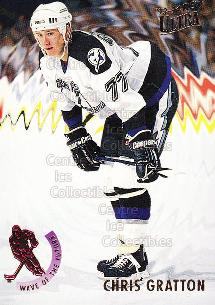 1993-94 Ultra Wave of the Future #5 Chris Gratton<br/>18 In Stock - $2.00 each - <a href=https://centericecollectibles.foxycart.com/cart?name=1993-94%20Ultra%20Wave%20of%20the%20Future%20%235%20Chris%20Gratton...&quantity_max=18&price=$2.00&code=4022 class=foxycart> Buy it now! </a>