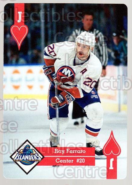 1995-96 Hoyle Eastern Playing Card #11 Ray Ferraro<br/>10 In Stock - $2.00 each - <a href=https://centericecollectibles.foxycart.com/cart?name=1995-96%20Hoyle%20Eastern%20Playing%20Card%20%2311%20Ray%20Ferraro...&quantity_max=10&price=$2.00&code=40252 class=foxycart> Buy it now! </a>