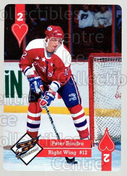1995-96 Hoyle Eastern Playing Card #2 Peter Bondra<br/>9 In Stock - $2.00 each - <a href=https://centericecollectibles.foxycart.com/cart?name=1995-96%20Hoyle%20Eastern%20Playing%20Card%20%232%20Peter%20Bondra...&quantity_max=9&price=$2.00&code=40259 class=foxycart> Buy it now! </a>