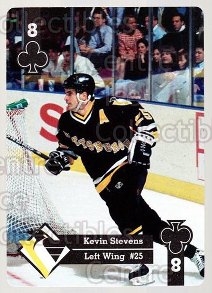 1995-96 Hoyle Eastern Playing Card #21 Kevin Stevens<br/>8 In Stock - $2.00 each - <a href=https://centericecollectibles.foxycart.com/cart?name=1995-96%20Hoyle%20Eastern%20Playing%20Card%20%2321%20Kevin%20Stevens...&quantity_max=8&price=$2.00&code=40261 class=foxycart> Buy it now! </a>