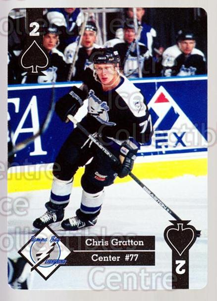 1995-96 Hoyle Eastern Playing Card #28 Chris Gratton<br/>8 In Stock - $2.00 each - <a href=https://centericecollectibles.foxycart.com/cart?name=1995-96%20Hoyle%20Eastern%20Playing%20Card%20%2328%20Chris%20Gratton...&quantity_max=8&price=$2.00&code=40266 class=foxycart> Buy it now! </a>