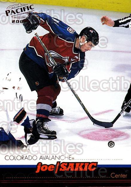 1999-00 Pacific Red #115 Joe Sakic<br/>1 In Stock - $3.00 each - <a href=https://centericecollectibles.foxycart.com/cart?name=1999-00%20Pacific%20Red%20%23115%20Joe%20Sakic...&quantity_max=1&price=$3.00&code=402688 class=foxycart> Buy it now! </a>