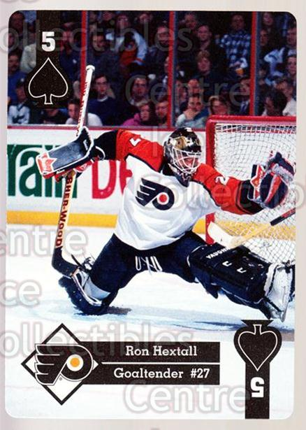 1995-96 Hoyle Eastern Playing Card #31 Ron Hextall<br/>4 In Stock - $2.00 each - <a href=https://centericecollectibles.foxycart.com/cart?name=1995-96%20Hoyle%20Eastern%20Playing%20Card%20%2331%20Ron%20Hextall...&quantity_max=4&price=$2.00&code=40270 class=foxycart> Buy it now! </a>