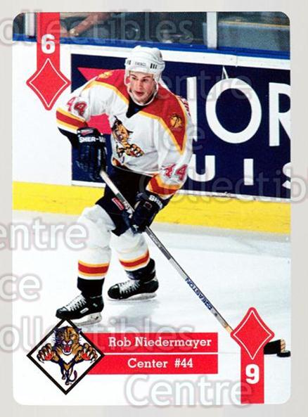 1995-96 Hoyle Eastern Playing Card #45 Rob Niedermayer<br/>9 In Stock - $2.00 each - <a href=https://centericecollectibles.foxycart.com/cart?name=1995-96%20Hoyle%20Eastern%20Playing%20Card%20%2345%20Rob%20Niedermayer...&quantity_max=9&price=$2.00&code=40284 class=foxycart> Buy it now! </a>