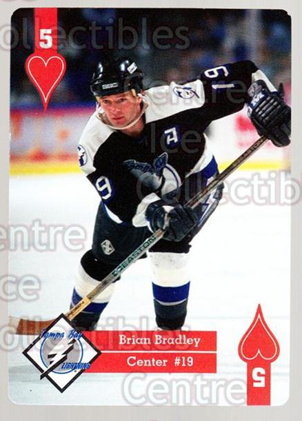 1995-96 Hoyle Eastern Playing Card #5 Brian Bradley<br/>10 In Stock - $2.00 each - <a href=https://centericecollectibles.foxycart.com/cart?name=1995-96%20Hoyle%20Eastern%20Playing%20Card%20%235%20Brian%20Bradley...&quantity_max=10&price=$2.00&code=40289 class=foxycart> Buy it now! </a>